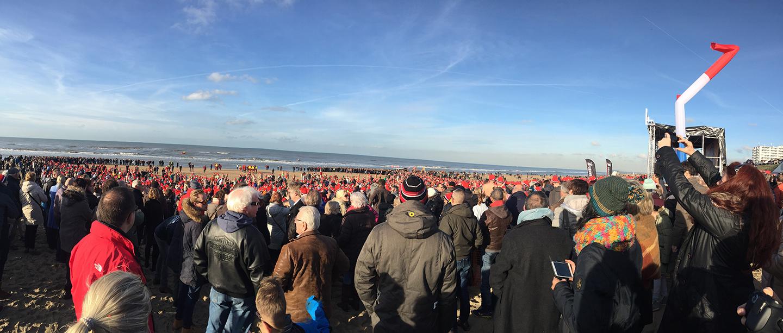 Nieuwjaarsduik Zandvoort aan Zee