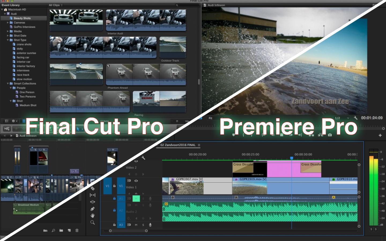 Final Cut Pro X oder Premiere Pro